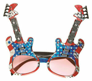 Infltable chitarra Costume 70s 80s Party Band Rock Star Costume Accessorio Nuovo