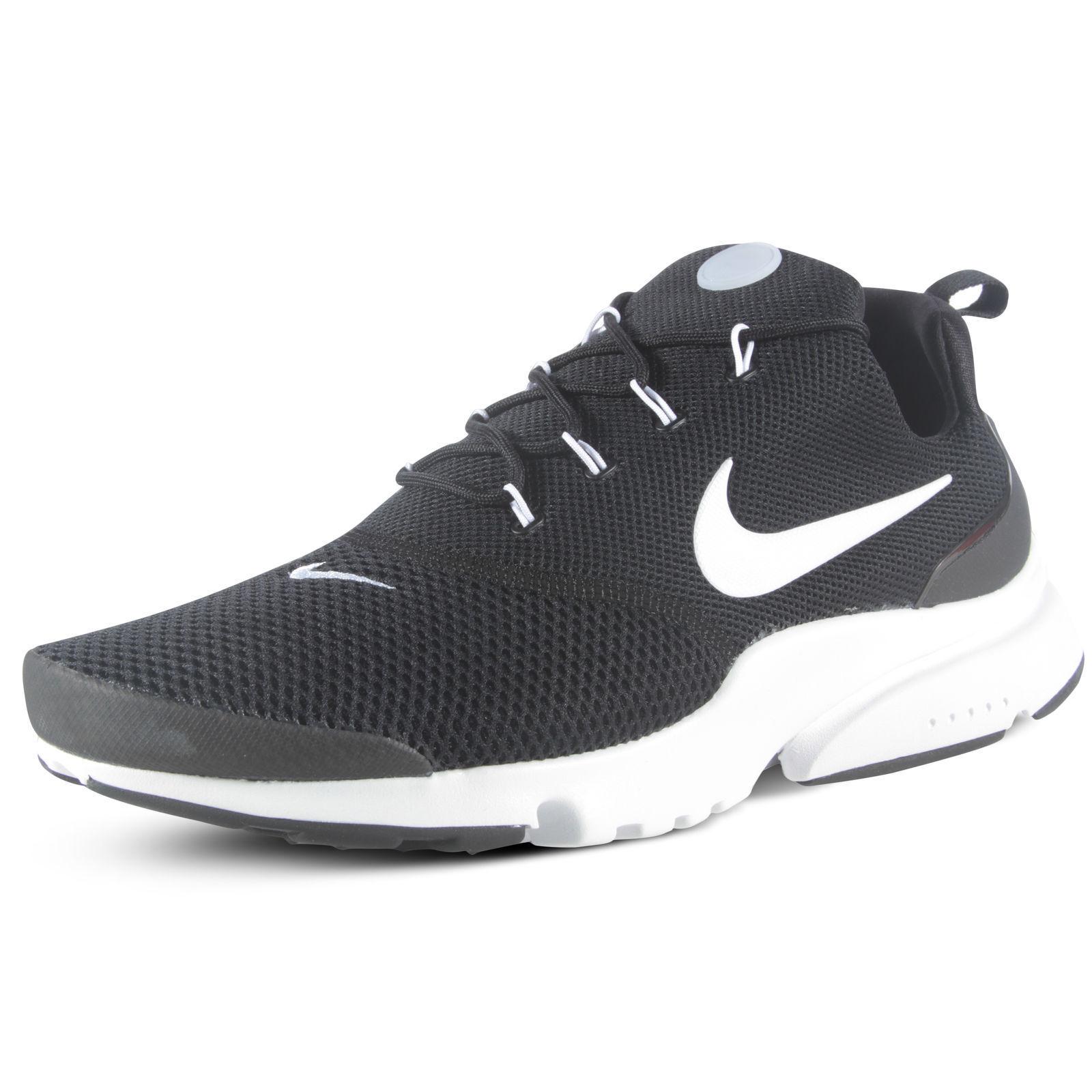 NEW Nike Mens Presto Fly Running shoes Black   Black-White 908019-002 Size 10.5