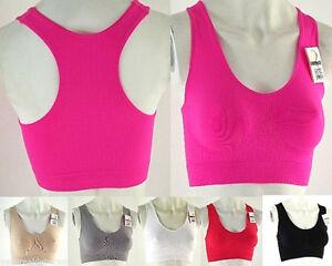 2-Brassiere-Reggiseno-Sportivo-Donna-Top-Sport-Fitness-GREENICE-C085-Tg-M-L-L-XL