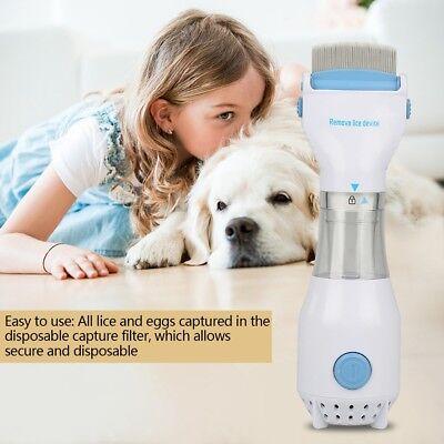 Electric Brush Comb Head Lice Vacuum Pet Dog Cleaning ...