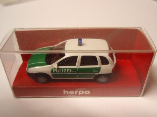 OVP Herpa 042291 OPEL CORSA polizia 1:87 Nuovo u