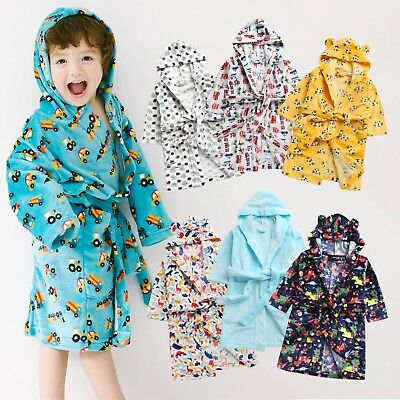 "Useful Vaenait Baby Kids Soft Plush Hooded Bathrobes Dressing Gowns ""robe Boys"" 1t-7t"