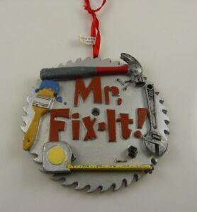 Great for DAD Mr. Fix it  Christmas ornament Kurt S. Adler Resin  hammer tape me
