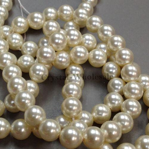 001 620 Crema de Perla de cristal * Redonda Original Swarovski 5810 Todas Las Tallas