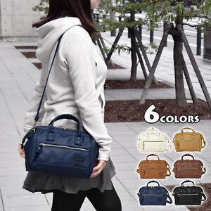 38df312230 Image is loading Japan-ANELLO-Handle-Faux-Leather-Shoulder-Boston-Handbag-