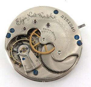 1888-ELGIN-6S-11J-POCKET-WATCH-MOVEMENT-amp-DIAL