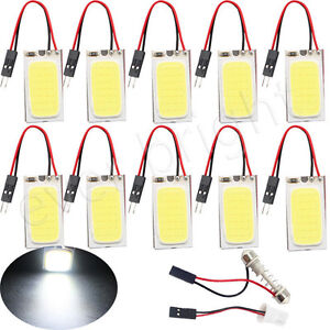 5PCS-White-48-SMD-COB-LED-T10-4W-12V-Car-Interior-Panel-Light-Dome-Lamp-Bulb-my