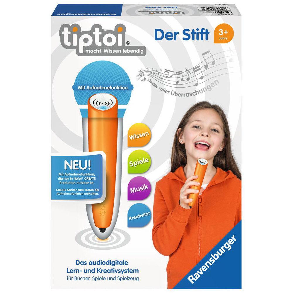 RAVENSBURGER tiptoi® Der Stift mit Player Pen Kinderspielzeug Lernspielzeug  | Bequeme Berührung