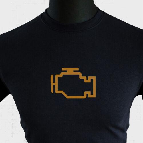 Check Engine light T Shirt Management Warning Tableau De Bord Voiture Moteur fun papa cadeau