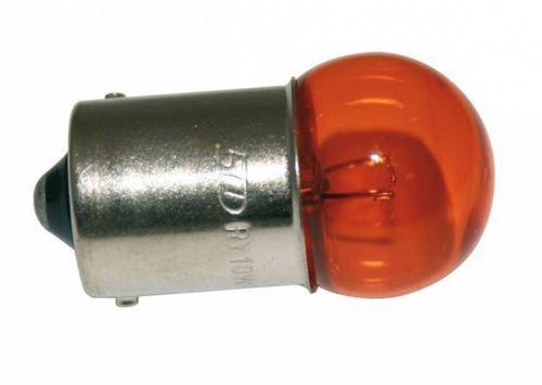 LAMPADINA 12V 10W BA15S ARANCIONE LAMPEGGIANTE LUCI AUTO MOTO CICLOMOTORE