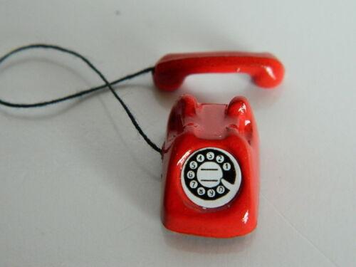 M5 Casa delle Bambole Small Rosso TELEFONO in metallo