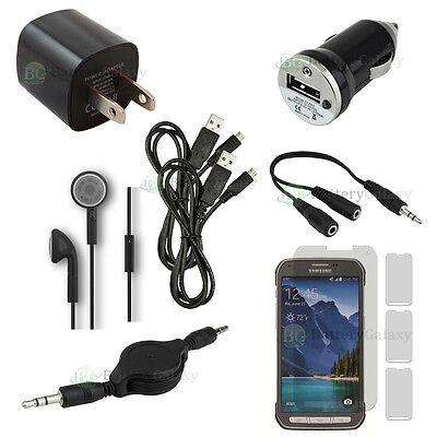 10pc 2X USB Cable+Car/Wall Charger for Phone Samsung Galaxy S5 Active 100+SOLD