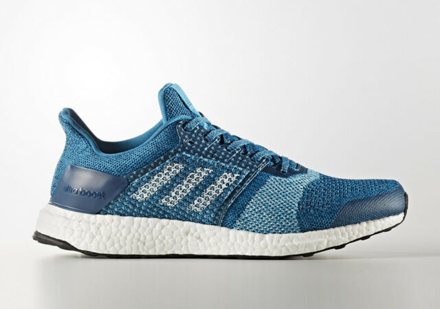5c34b2c855d ADIDAS ULTRA BOOST ST SUPPORT BLUE MENS RUNNING GYM TRAINERS SHOES UK 9.5