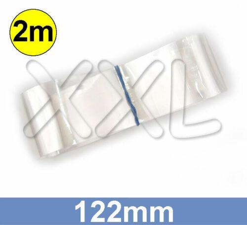 76mm rund PVC Schrumpfschlauch transparent 2m ENDLOSWARE 122mm flach