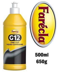 Farecla-G12-500ml-De-Corte-Fino-compuesto-liquido-Elimina-Rayones-amp-remolinos-0-5-Lt