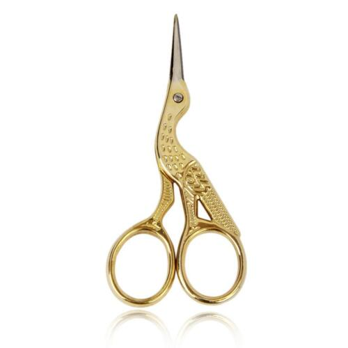 Vintage Steel Stork Embroidery Sewing Craft Shears Cross Stitch Scissors Cutter