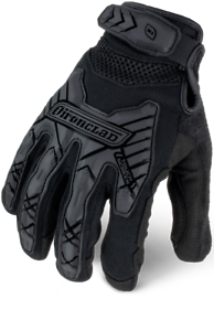 IronClad IEXT-IBLK Command Tactical Impact Black Gloves Select Size