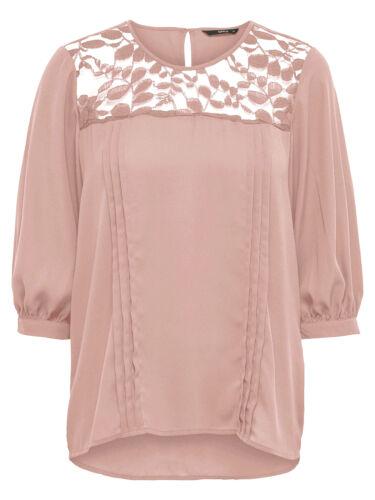 ONLY Damen Bluse Tunika Shirt onlVENICE 3//4 TOP WVN Spitze blau schwarz rosa NEU