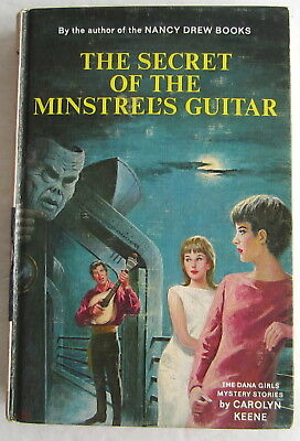 Dana Girls Secret of the Minstrel's Guitar Nancy Drew Author Carolyn Keene 1st