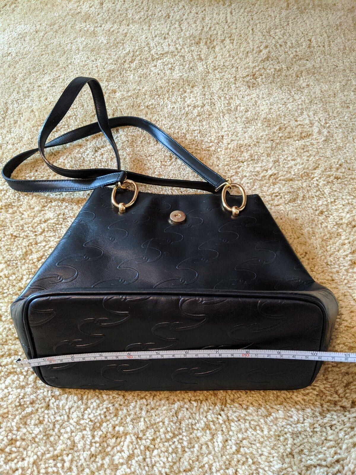 Vintage Arnold Scaasi Purse Italian Leather Black… - image 6