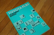 Toyota 1991 Forklift Truck Attachment Manual Fork Industrial Vehicle Piping Book
