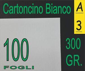 100-FOGLI-300-gr-RISMA-CARTONCINO-BIANCA-COPERTINE-X-LASER-INKJET-A3