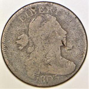 1803 Large Date, Large Fraction Draped Bust Large Cent; G Details