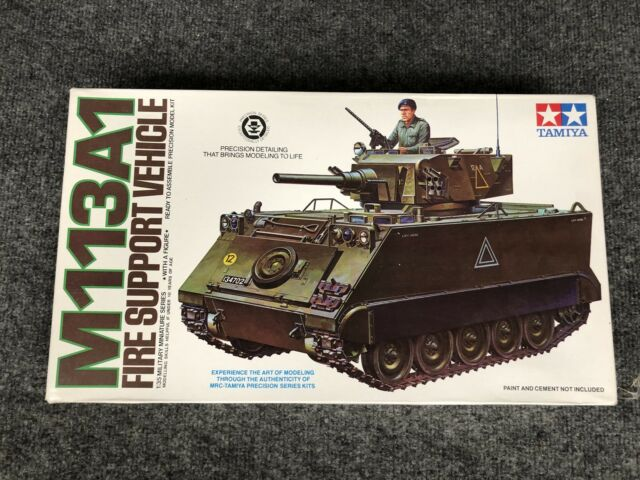 786cfc0719 Tamiya U.S. Armoured S.P. Mortar   M113A1 Fire Support Vehicle Model 1 35  Scale