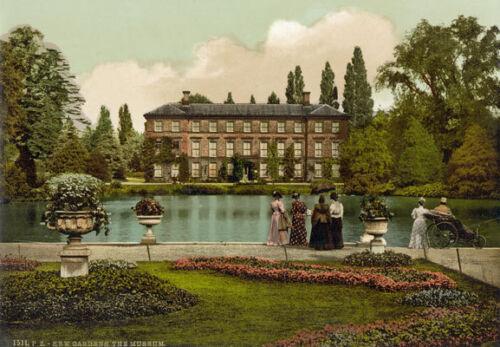 """PS17 VINTAGE 1890/'s photochrom FOTO-Kew Gardens Londra-STAMPA A3 17 /""""x12/"""""""