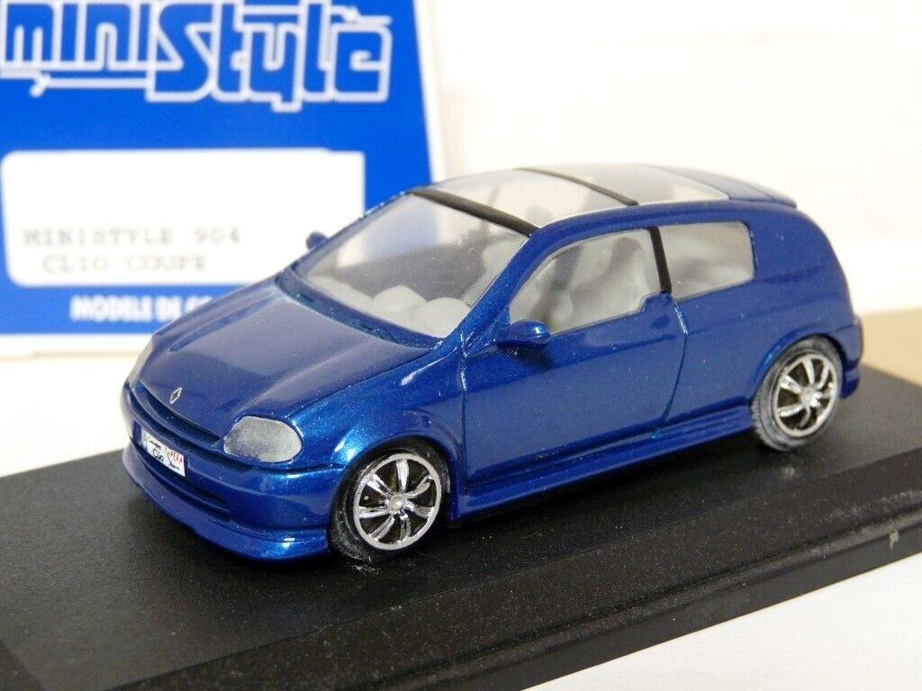 Ministyle 904 1 43 Renault Clio Coupe Coche Modelo de Resina Sbarro concepto hecho a mano