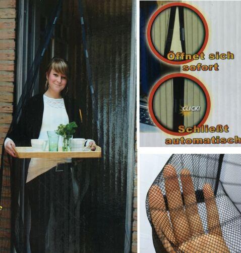 Fliegengitter 100 x 210 cm Magnetvorhang Insektenschutz Magnet Netz Balkontür