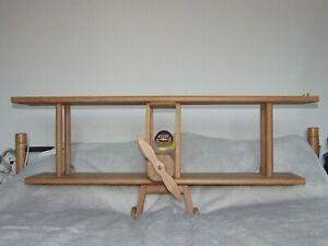 Childs Kids Hand Made Wooden Bedroom Bookshelf Aeroplane Biplane Design Pine Ebay