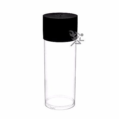 Black Lid Capsule Tube for 33mm thru 42mm Ring Type Air-Tite Coin Holders Qty 5