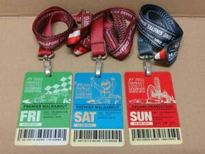 Rare-F1-Singtel-Singapore-Grand-Prix-2011-Fri-Sun-Tickets-w-Lanyard-x3-A1766