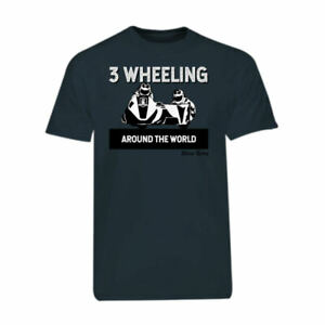 Charcoal-Grey-3-Wheeling-T-shirt-Tee-3-Wheeling-Around-the-World-Sidecar-Racing