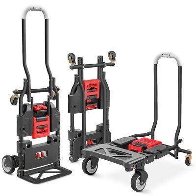 Carro de mano plegable 4 ruedas 120 kg plegable multiposición-  GREENCUT