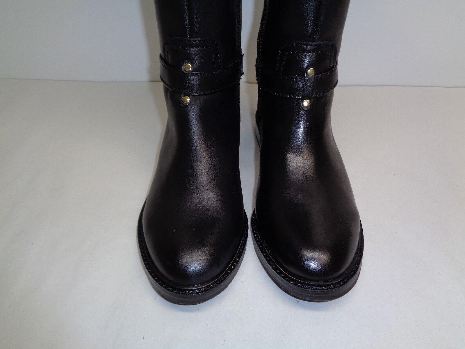 Gianni Bini tamaño 5.5 M botas Torrin Negro Cuero Nuevos Mujer Zapatos botas M Hasta La Rodilla c6d12a