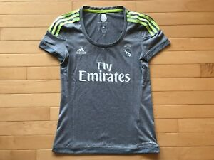 Details about Real Madrid Women's Soccer Jersey Adidas Fly Emirates Sz XS Small Grey