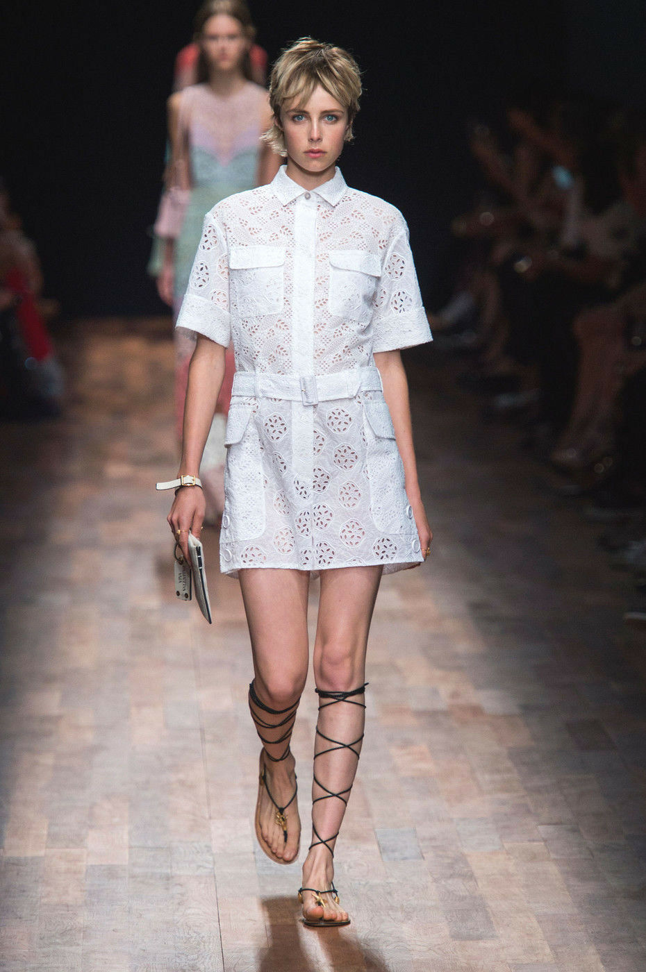 VALENTINO White Embroidered Lace Dress Jumpsuit Romper Playsuit 40 4 6