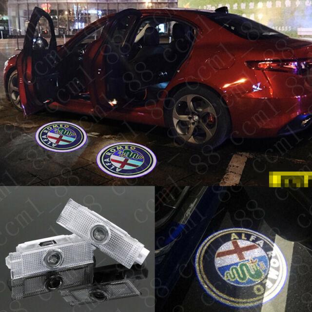 2x Car LED Door Logo Projector Puddle Lights HD For Alfa