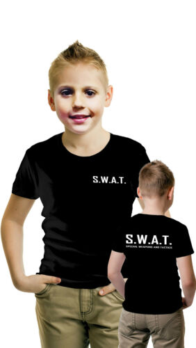 I bambini squadra SWAT T-shirt Costume polizia Fbi TATTICO MILITARE