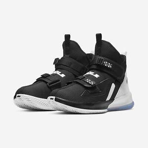 Nike-Lebron-Soldier-13-XIII-Black-White-Chrome-Oreo-Mens-Basketball-2019-NEW