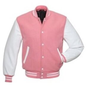 Ärmel Windhound Original Jacke Mit Weißen Echtleder M Rosa College UTOxwq0
