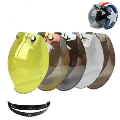Motorcycle Helmet Bubble Visor Shield Retro for s Helmets Mask Vintage New