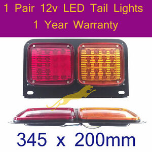 LED-Tail-Light-2-x-12v-LED-TailLights-for-trailers-forklift-caravans-trucks-F003
