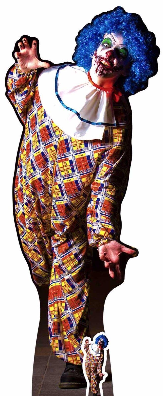 Gruselig Herren   Jungen Killer Clown Halloween lebensechte Größe und Pappfigur