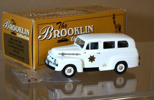 Brooklin modelle brk 42b 1952 ford - ranger - Farbeado state police mq