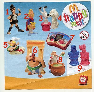 McDonald/'s MC DONALD/'S HAPPY MEAL 2008 Asterix Pezzi singoli