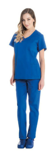 Divisa Sanitaria Donna Casacca Medico Pantaloni Ospedale Infermiera Completo OSS