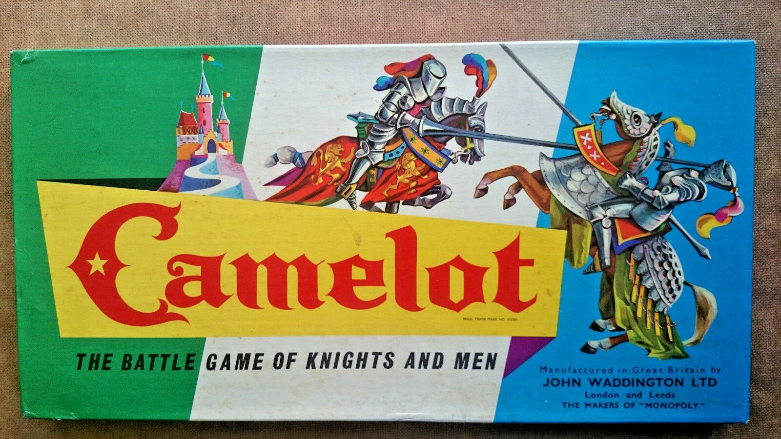 Camelot - The Battle Game of Knights and Men By Waddingtons 1960s